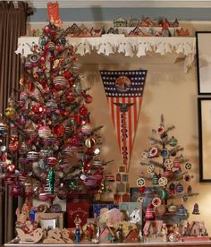 WWII Era tree and decorations