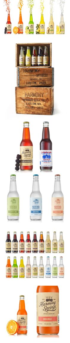 Harmony Springs Artisanal Soda Packaging