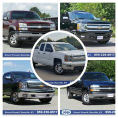 Stuart Powell Ford, in Danville Kentucky, has gotten several used Chevrolet Silverados through trade-ins!  Visit us on the Danville Bypass or visit us online to find out more about these pre-owned Chevy trucks!