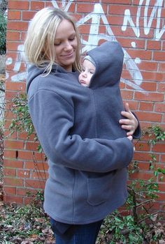 Hoodie + baby holder/carrier