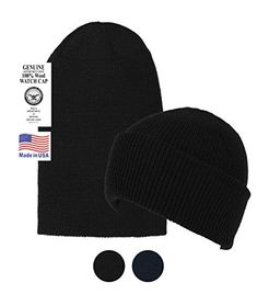 4f7c84f665b Discounted Black Military Style Wool Beanie Hat -Soft Warm Winter Watch Cap   BlackMilitaryStyleWoolBeanieHat-