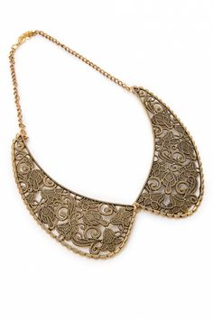From Paris with Love! - 40s Collar me Gold necklace