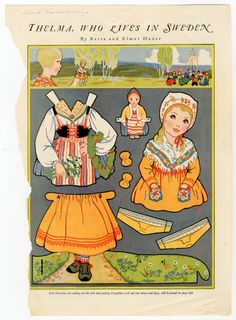 85.9721: Thelma, Who Lives in Sweden | paper doll | Paper Dolls | Dolls | National Museum of Play Online Collections | The Strong