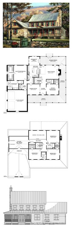 Colonial Style COOL House Plan ID: chp-47758 | Total Living Area: 3039 sq. ft., 5 bedrooms & 4 bathrooms. #houseplan #colonialstyle