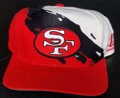San Francisco 49ers Vintage Snapback Logo Athletic Splash Hat NFL Pro Line Rare