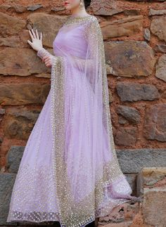 Looking for Lavender lightweight lehenga for destination wedding sangeet? Browse of latest bridal photos, lehenga & jewelry designs, decor ideas, etc. on WedMeGood Gallery. Indian Bridal Outfits, Indian Fashion Dresses, Dress Indian Style, Indian Gowns, Indian Designer Outfits, Fashion Skirts, Wedding Dresses For Girls, Bridal Dresses, Gown Party Wear
