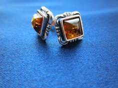 Square Amber Earrings Braided Edge - Square amber earrings with braided silver edge. Made from genuine amber and sterling silver. These studs are suitable for all occasions. Affordable luxury jewellery - www. Amber Earrings, Luxury Jewelry, Studs, Charlotte, Rings For Men, Jewellery, Sterling Silver, Collection, Men Rings