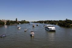 The Spirit of Jen (RHS of the pic) - the biggest & most luxurious cruiser on the Vaal River! Cruise Prices, Spirit, Boat, River, Luxury, Dinghy, Boats, Rivers