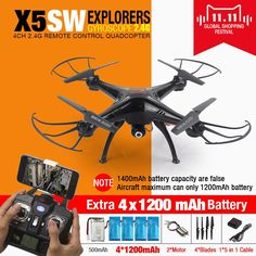 Now available on our store,  SYMA X5SW FPV RC ...  be the first in your block.  http://uniqbrands.com/products/syma-x5sw-fpv-rc-quadcopter-drone-with-wifi-camera-hd-2-4g-6-axis-dron-rc-helicopter-toys-with-full-capacity-5-battery-vs-h8c?utm_campaign=social_autopilot&utm_source=pin&utm_medium=pin