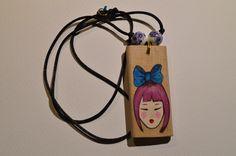 pendenti in legno decorati con acrilico #kawaii#wood#neck#fashionàrend#winter#lucky