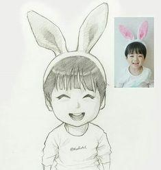 Like kid Jk 💜🥕🥕🥕💜 Cartoon Sketches, Anime Drawings Sketches, Pencil Art Drawings, Easy Drawings, Cartoon Art, Anime Boy Sketch, Character Art, Character Design, Photo To Cartoon