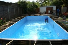 Working our team member, to successfully complete pools building,. Gunite Swimming Pool, Building A Swimming Pool, Luxury Swimming Pools, Building A Deck, Deck Steps, Pool Steps, Pool Construction, Construction Services, Solar Pool Heater