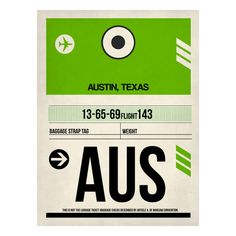 AUS Austin Baggage Tag, $39 - $148, now featured on Fab.