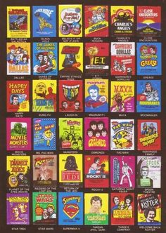 Trading cards,  non-sports cards, wax packs or Flip cards, whatever you called  them they were a great investment for a nickle. the included bubblegum, not so much.