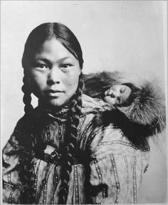Eskimo mothers with children...