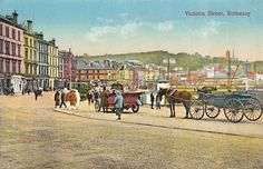 Undated tinted picture of Victoria Street, Rothesay.