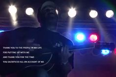 "Lyric Card for ""Intro"" by Aaron Lewis. Picture from a live unplugged performance."
