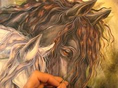"""""""How to Paint a Freisian Horse"""" and A Signing in Seattle on the 11th for MOM's Day! 