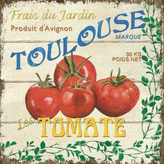 Vintage Labels, Vintage Signs, Vintage Food, Vintage Decor, Toulouse, Prints For Sale, Art For Sale, Vegetable Crates, Retro