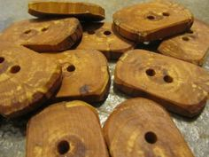 12 Aged Apple Wood Tree Branch Toggle Buttons. by PymatuningCrafts, $12.00
