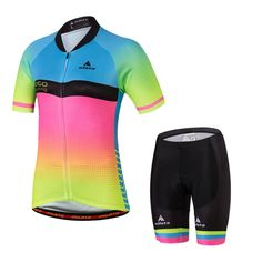Uriah Women's Cycling Jersey Shorts Sets Short Sleeve Reflective Pink Green Size XXL(CN). Size Notice: This is not standard US Size, size may run smaller than US size, please check the size chart on the product image and product description before placing the order; If you're not sure about the size, please feel free to contact us (Unit Conversion: 1Inch = 2.54cm; 1lb = 0.454kg). Material: Jersey 100% Polyester Fabric; Shorts: 80% Polyester and 20% Lycra; Strong moisture wicking...