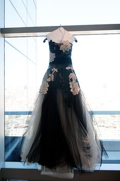 PJ wore an eye-catching Zuhair Murad gown, draped in tulle and topped with beaded flowers, en lieu of a traditional white dress.