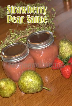 Strawberry Pear Sauce (could use apples too) — Water Bath or Freeze | Recipes We Love