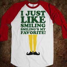 I Just Like Smiling (elf Baseball)