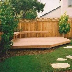 Decking Designs Corner Deck With Bench , Backyard Decking Designs In Landscaping And Outdoor Building Category