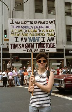 I love this saying it should be on one of our posters 1985 - Gay Pride March - Manhattan.