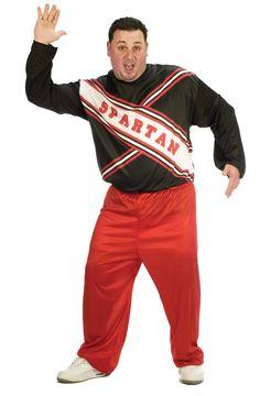 SNL Spartan Cheerleader Male Adult Plus Costume