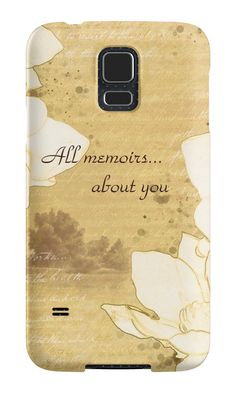 """""""Sketch """"All memoirs... about you"""""""" Samsung Galaxy Cases & Skins by floraaplus 