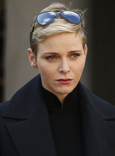 Prince's Albert II of Monaco and Princess Charlene of Monaco, Princess Caroline of Hanover and Princess Alexandra attend a minute of silence to remember Paris victims