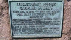 Transcription: Revolutionary War Plaque for Gabriel Steely