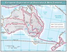 Australian Explorers Australia For Kids, Coast Australia, Aboriginal History, Aboriginal Culture, Teaching History, Teaching Resources, Explorer Map, First Fleet, Australian Curriculum