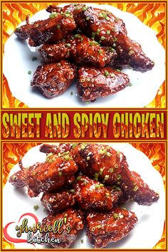 Follow us on Yhuriell's Kitchen for more Easy Recipes Easy Recipes, Easy Meals, Sweet And Spicy Chicken, Chicken Wings, Fries, Menu, Kitchen, Food, Easy Keto Recipes