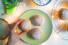 Vegane Ofen-Berliner Krapfen Pfannkuchen fettarm gesünder