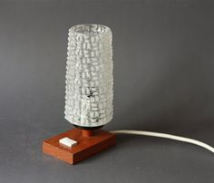 Mid Century Modern Teak Danish Modern Table Lamp by GoGoBerlinette