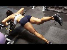 Intense Arm Workout at Gym: Female Fitness Model Michelle Lewin - YouTube
