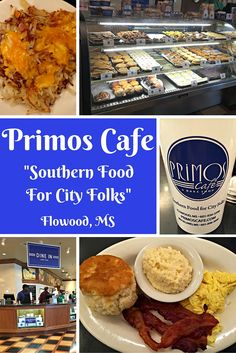 Primos Cafe is a Mississippi tradition featuring delicious breakfast, lunch, and take home food items and pastries. My favorite, the cheese grits and take home cups!