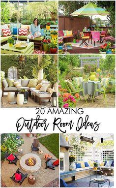 20 amazing outdoor room ideas