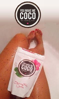 This coconut and coffee scrub takes away scars, cellulite and stretch marks! I wanna try it!
