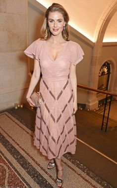 Donna Air, who is dating Kate's younger brother James Middleton, was pretty as a picture in pink lace