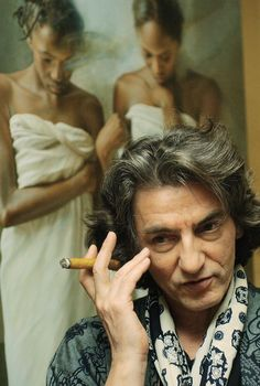 István Sándorfi in his art studio #workspace #atelier (born 1948 Budapest, Hungary; died 2007 Paris, France)