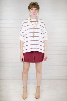 Varsity Stripe Boxy Top