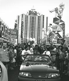 UNLV Rebel victory parade down Fremont St,November 1989