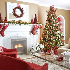 Amazing Christmas living rooms decoration ideas for this year