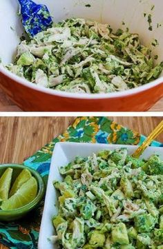 Chicken and Avocado Salad with Lime and Cilantro | CookJino