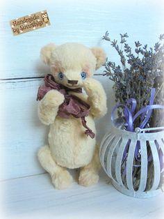 Free shipping worldwide Teddy bear Vanilla OOAK by SovushkaDolls