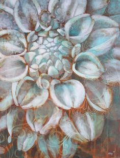 Flower Canvas Art with Metal Effects Rust Finish | Canvas Inspirations with Modern Masters | Artist Ali Kay
